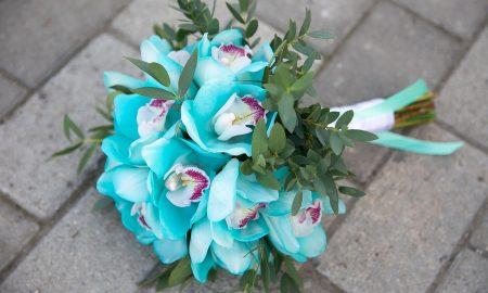 Свдебный букет из орхидей - роскошный образ