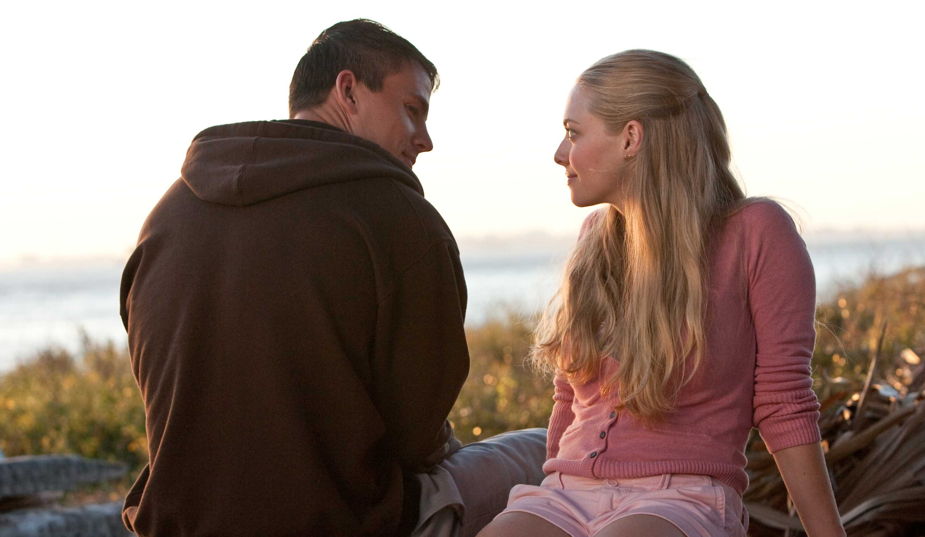 Channing Tatum (left) and Amanda Seyfried star in Screen Gems' romantic drama DEAR JOHN.