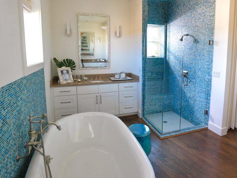 Морской стиль в интерьере ванной