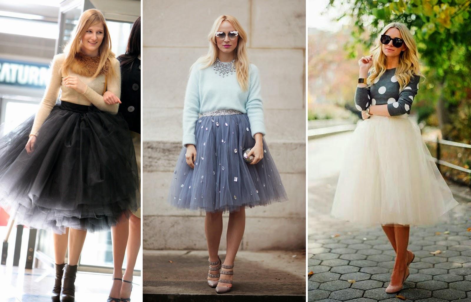 С чем одеть юбку синюю пачку