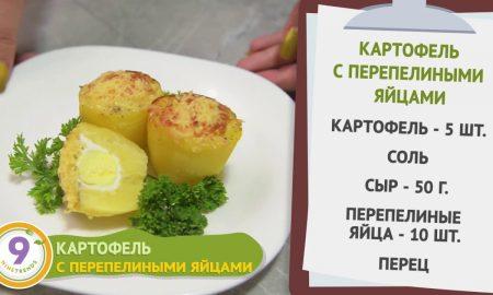 Картофель с перепелиными яйцами