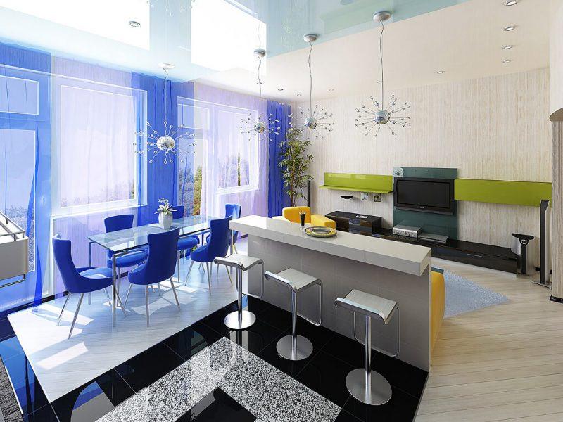 Кухня и столовая в студии